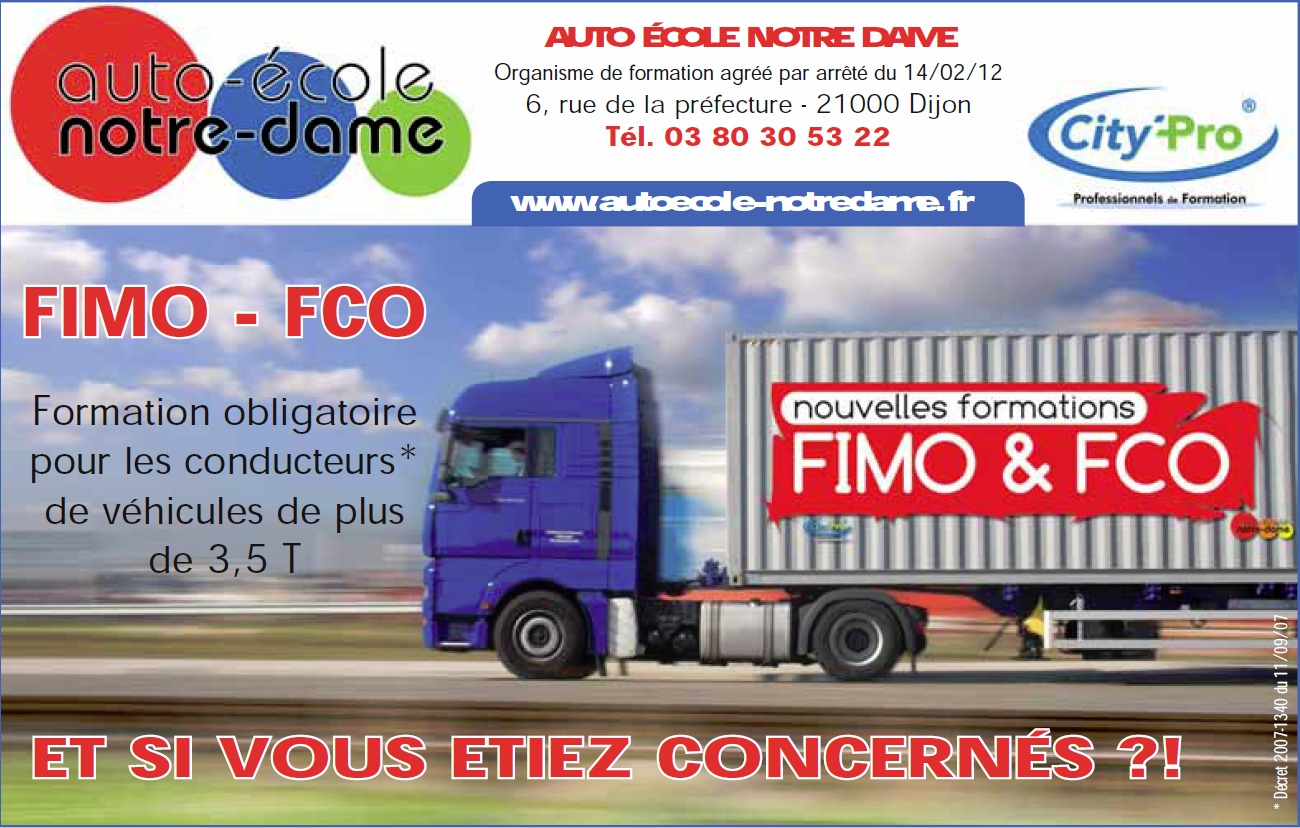 formations transport 39 fimo fco 39 avec l 39 auto ecole notre dame auto ecole notre dame. Black Bedroom Furniture Sets. Home Design Ideas