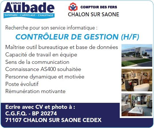 COMPTOIR DES FERS recrute CONTROLEUR DE GESTION (H/F)