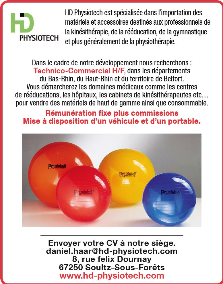 HD Physiotech recrute Recherche d'un Technico-Commercial H/F