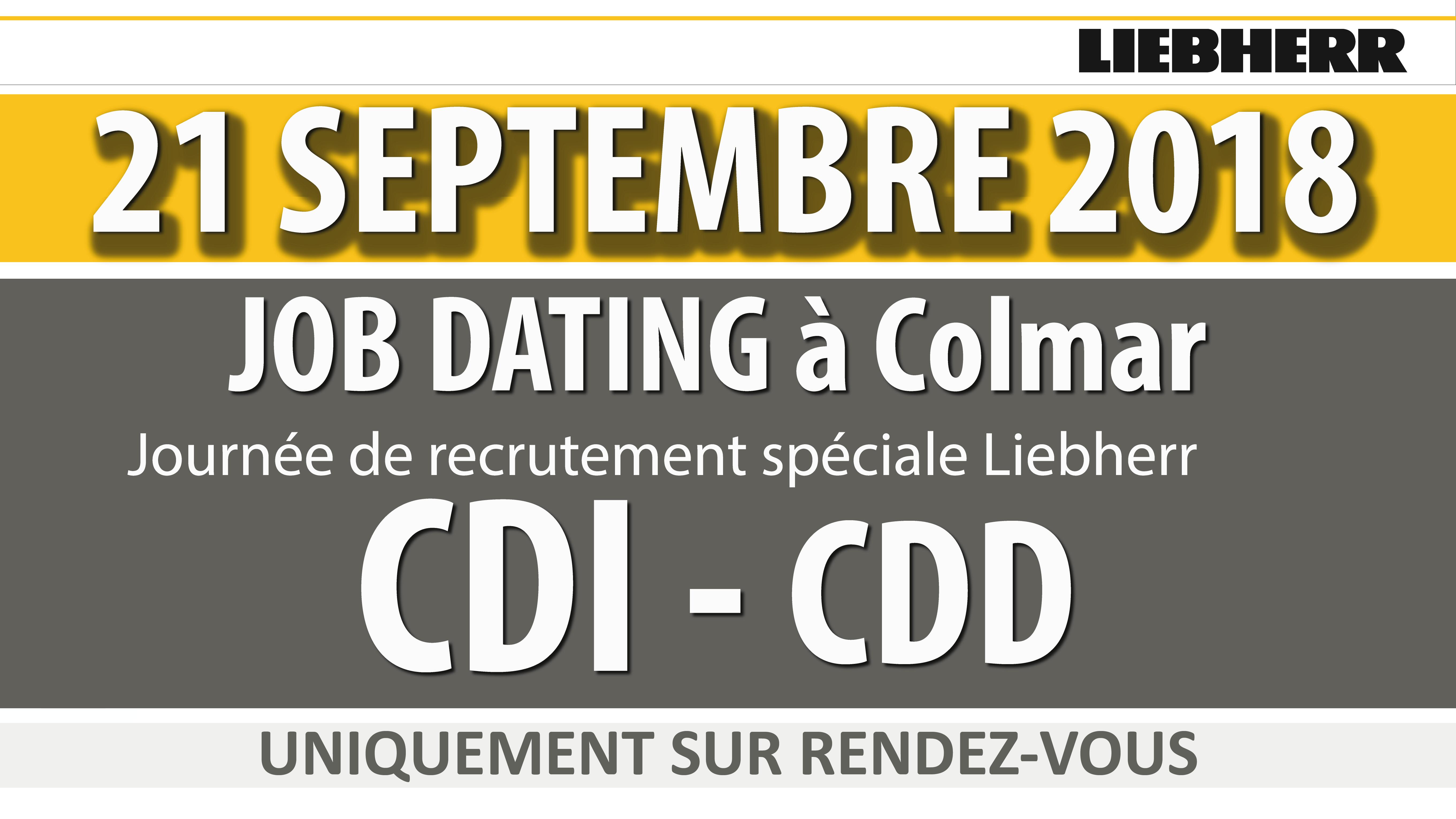 Job Dating LIEBHERR recrute Job Dating - LIEBHERR - 21 Septembre 2018 - COLMAR