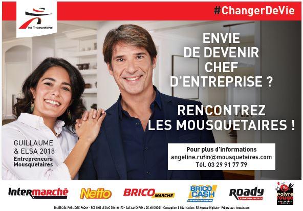 LES MOUSQUETAIRES recrute CHEF D'ENTREPRISE H/F