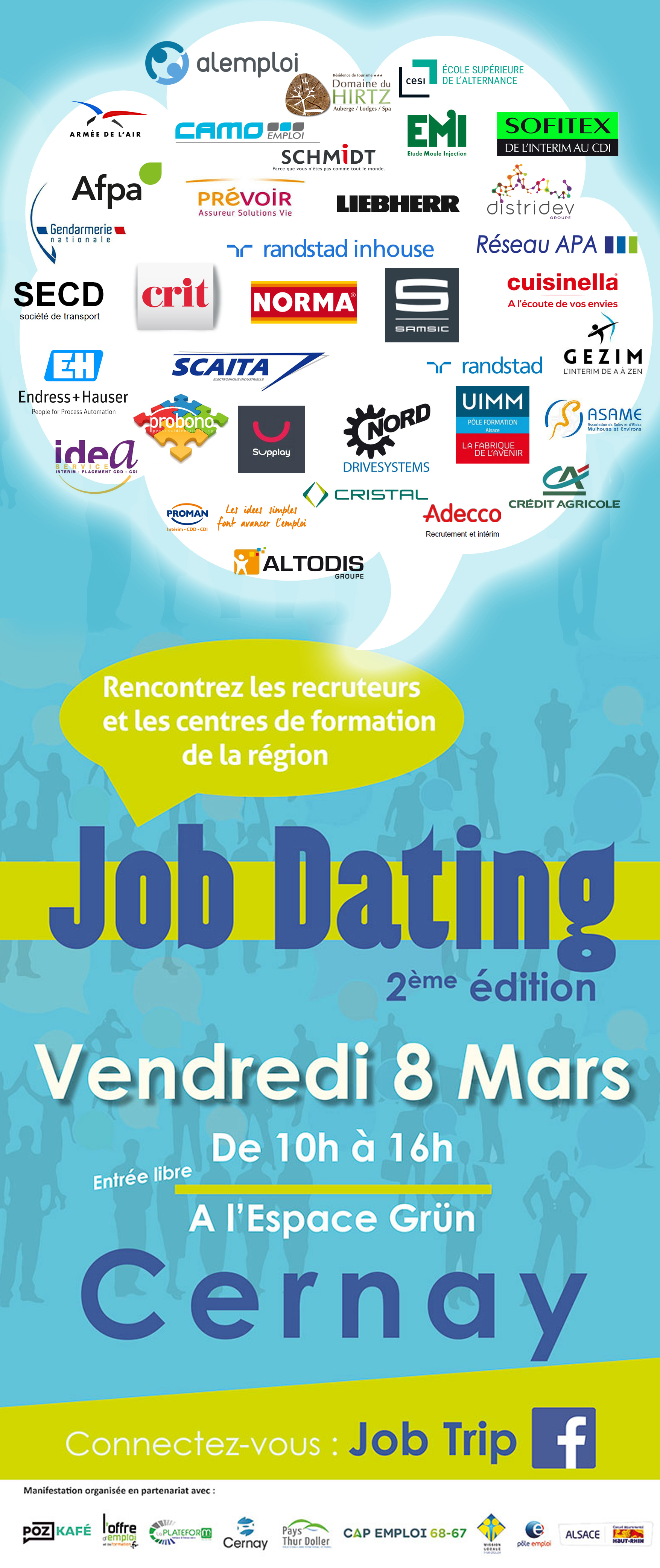 JOB DATING CERNAY LE 08 MARS 2019 recrute JOB DATING - CERNAY - le 08 MARS 2019