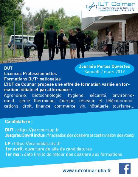 IUT COLMAR propose la formation : IUT Colmar propose une offre de formation...