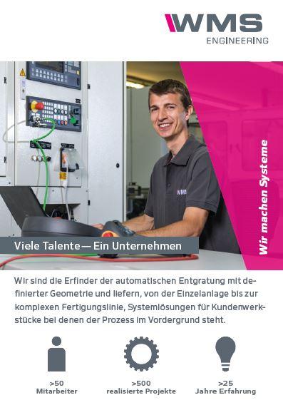 WMS ENGINEERING recrute Viele Talente (m/w) — Ein Unternehmen