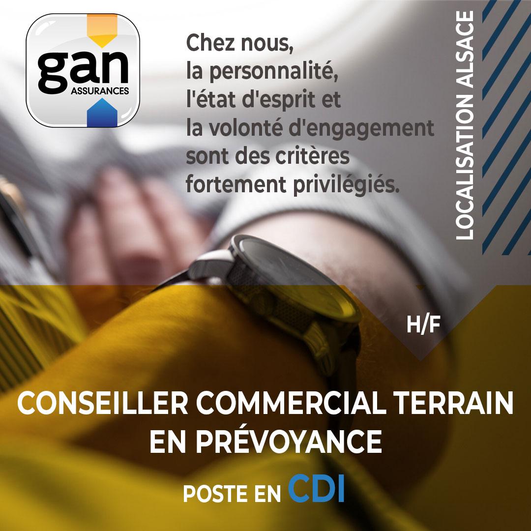 GAN PREVOYANCE recrute Conseiller Commercial terrain en Prévoyance H/F