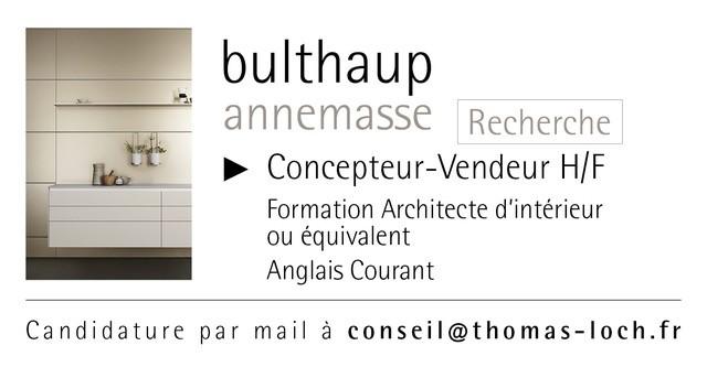 Bulthaup ANNEMASSE recrute Concepteur-Vendeur (H/F), poste pour Annemasse