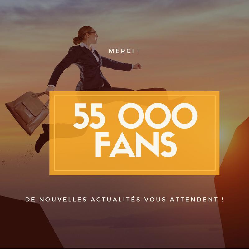 55000 Fans Facebook carré
